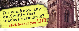 Do you know any university that teaches Standards?